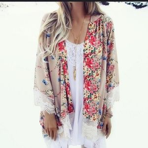 🌿Floral Lace Open Chiffon Cardigan🌿